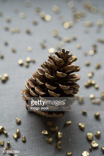 Christmas Pine Cone : Stock Photo