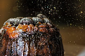Christmas is known for gorgeous Christmas puddings and cake. Glazed fruit crowning the beautiful favours.