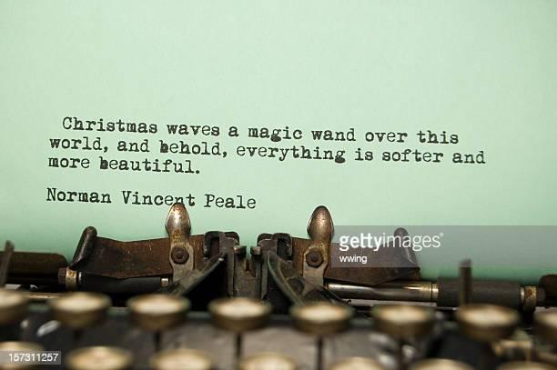 Noël devis définition sur une vieille machine à écrire