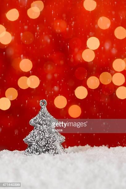 Fond rouge de Noël avec espace pour copie