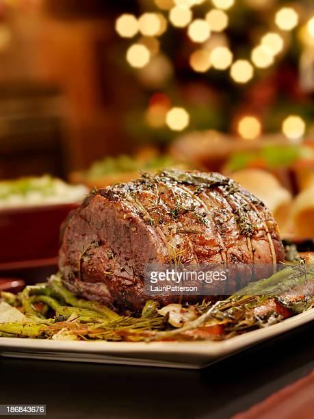Rôti de boeuf dîner de Noël
