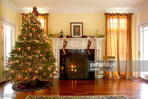 Christmas Room fireplace stock photos and pictures | getty images