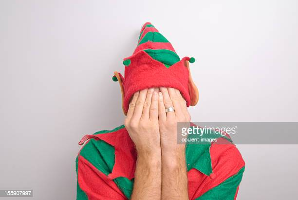 Christmas Santa Elf Stressed