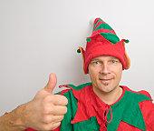 Christmas Santa Elf Thumbs Up!