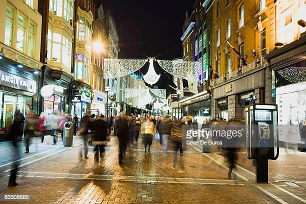 Christmas scene on Grafton St, Dublin