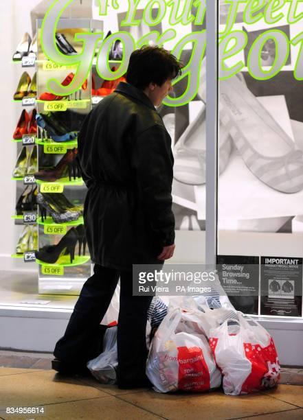 A Christmas shopper at Cooper's Square Burton On Trent Stafforddhire
