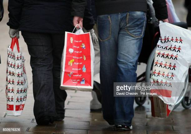 Christmas shoppers in Edinburgh's City centre