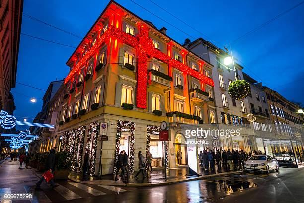 Christmas shopping in Milan, Cartier store