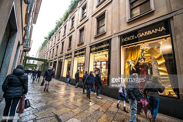 Christmas shopping in Milan, Dolce & Gabbana store