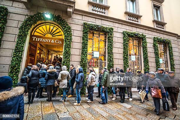 Christmas shopping in Milan, Tiffany & Co.
