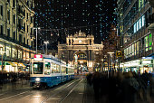 Christmas shopping in the decorated Zurich Bahnhofstrasse - 6
