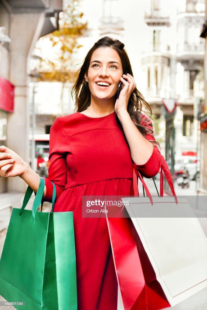 Christmas shopping : Stock Photo