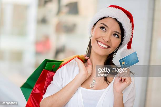 Christmas shopping with credit card