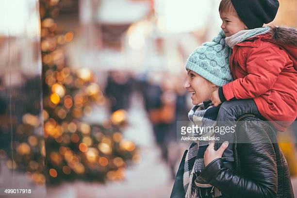 Weihnachts-shopping mit Mama