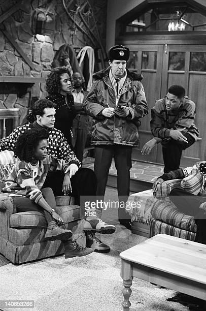 AIR 'Christmas Show' Episode 13 Pictured Charlayne Woodard as Janice Diedrich Bader as Frank Schaeffer Karyn Parsons as Hilary Banks Tom Virtue as...