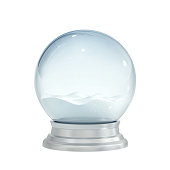 Christmas snow globe isolated on white. 3D rendering