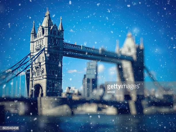 Weihnachten Schnee in London