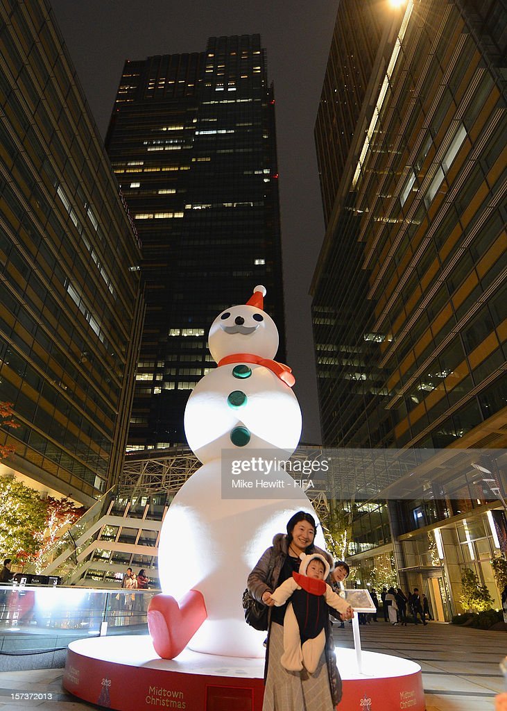 A Christmas snowman on display at Tokyo Midtown on December 2, 2012 in Tokyo, Japan.