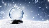 Snow Globe With Snowfall