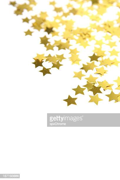 Christmas Stars Confetti Background