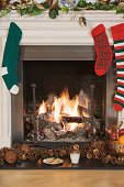 Christmas stockings hanging by the fire