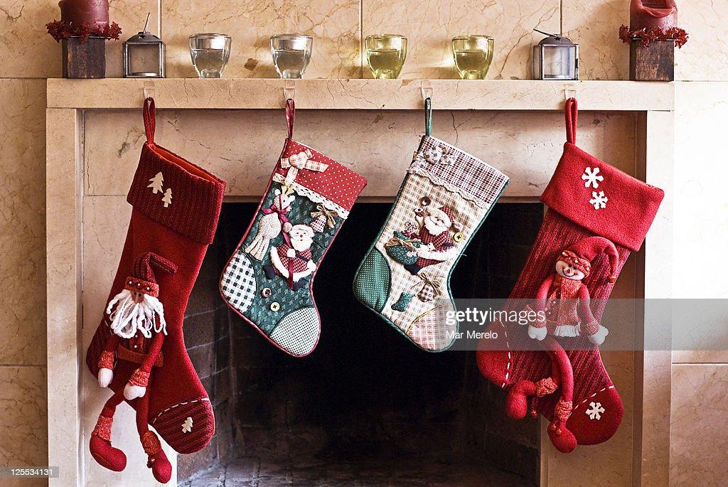 Christmas stockings : Stock Photo
