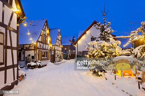 Christmas Street At Night