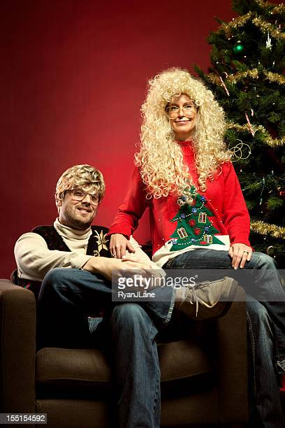 Christmas Sweater Eighties Couple