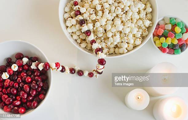 Christmas sweet food and candles