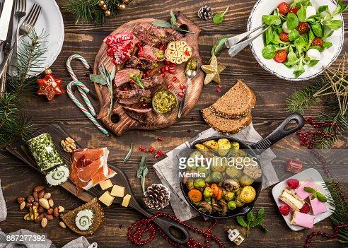 Weihnachten Themen-Abendessen : Stock-Foto