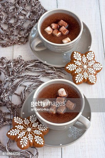 Christmas time composition with cookies : Stock Photo