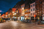 Main shopping street and city centre of Strasbourg on Christmas time in Strasbourg - Alsace, France