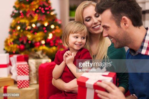 Weihnachten Zeit mit der Familie verbringen : Stock-Foto