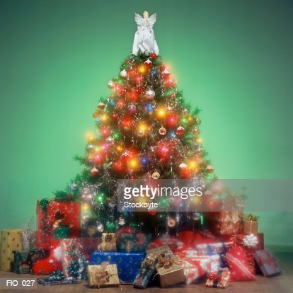 Christmas tree and gifts : Stock Photo