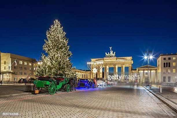 Christmas tree at Brandenburg gate in Berlin