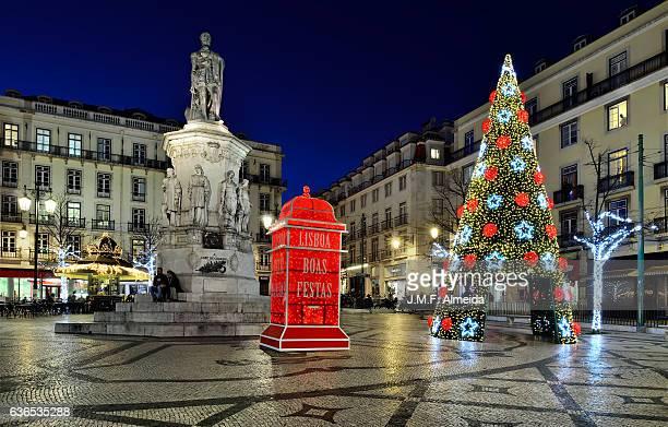 Christmas tree at Praça de Luis de Camões