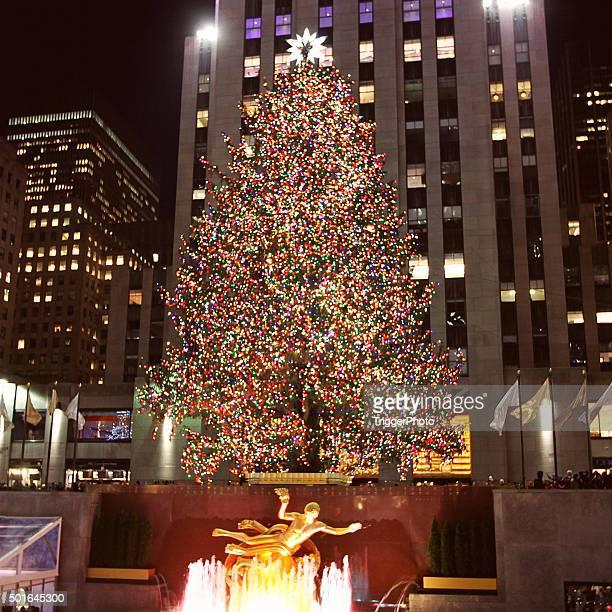 Weihnachtsbaum im Rockefeller Center in New York City