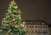 Christmas tree at the Town Hall Square.