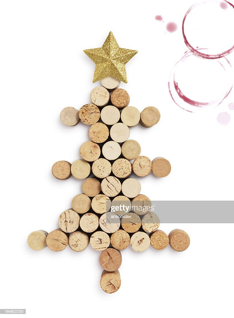 christmas tree by corks