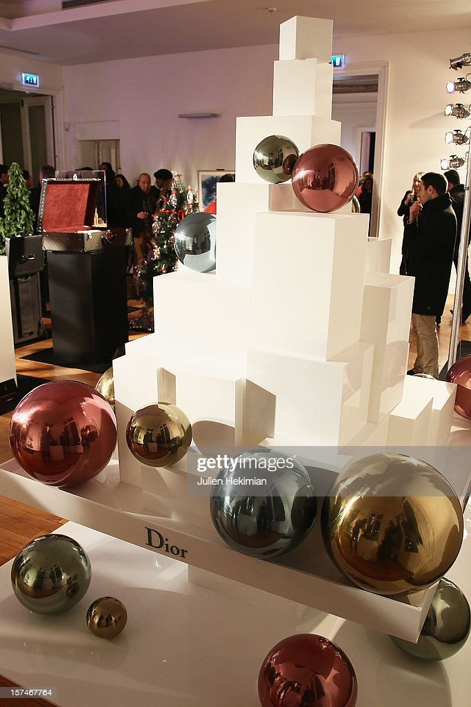 Christmas tree by Dior pictured at Hotel Salomon de Rothschild on December 3, 2012 in Paris, France.