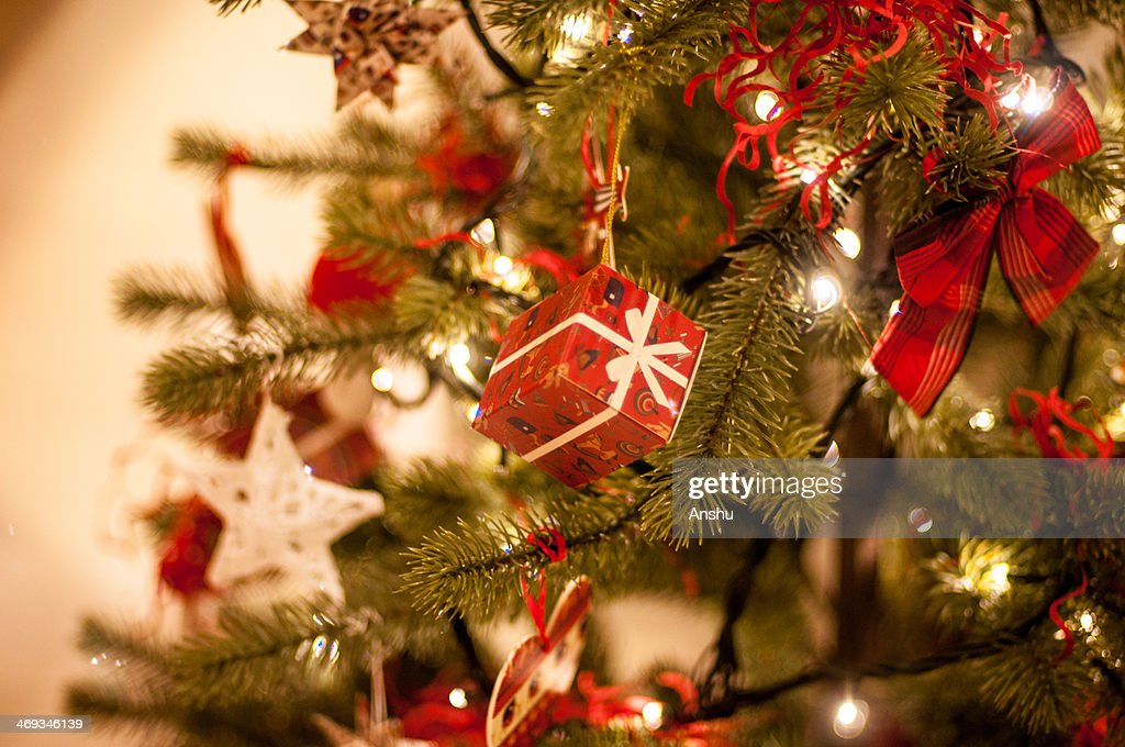 Christmas tree close up : Stock Photo