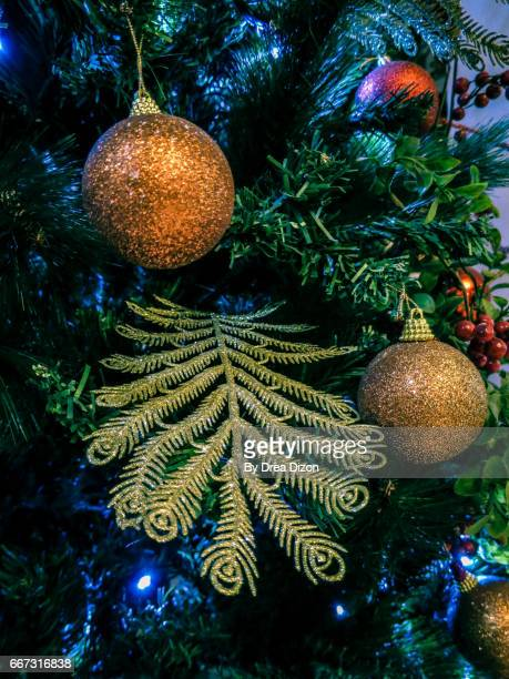 Red green and gold christmas tree stock photos and for Green and gold christmas tree
