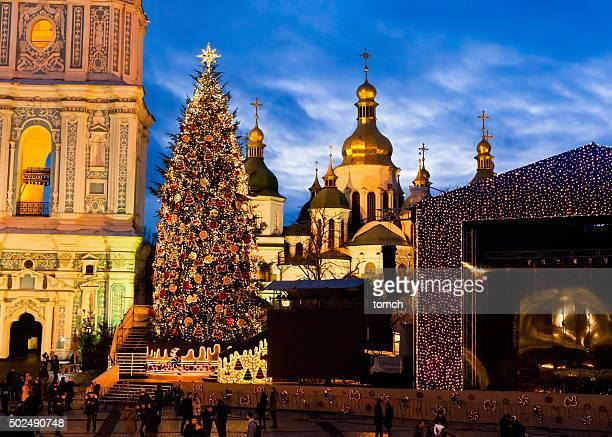 Árbol de Navidad en Kiev, Ucrania