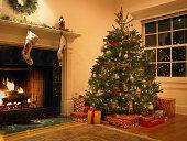 Christmas tree in living room