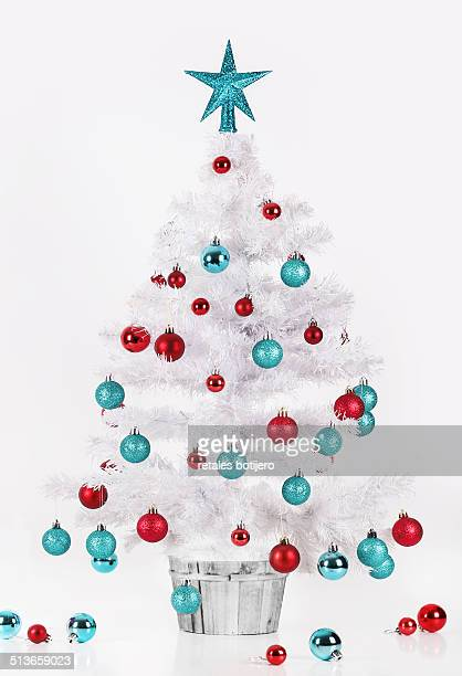 Christmas tree in red, white and blue