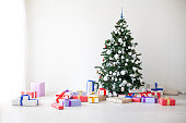 Christmas tree lots of gifts the new year decor 1