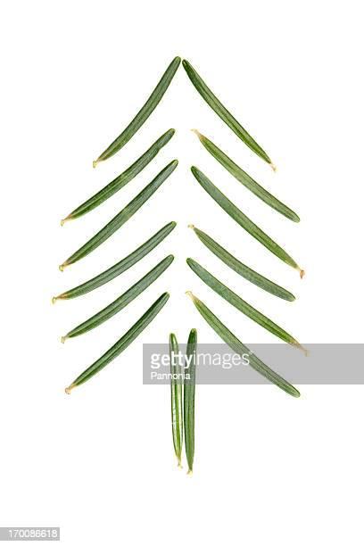 Christmas tree made of pine needles