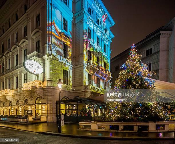 A Christmas tree near Café Landtmann Restaurant