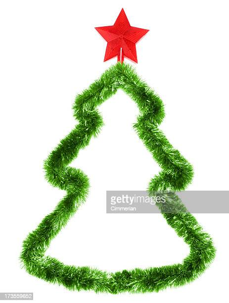 Christmas tree on white with copyspace