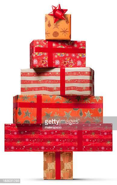 Christmas tree. Presents.